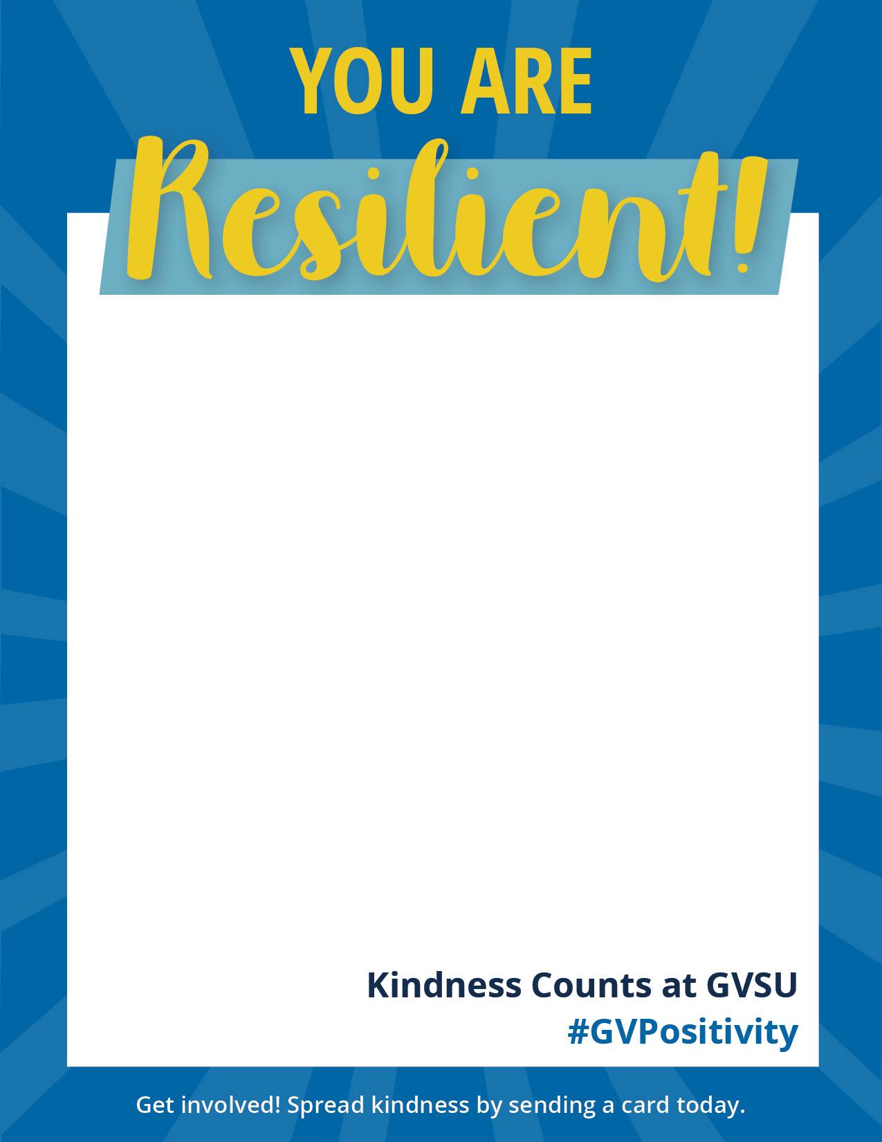 You Are Resilient! Kindness Card